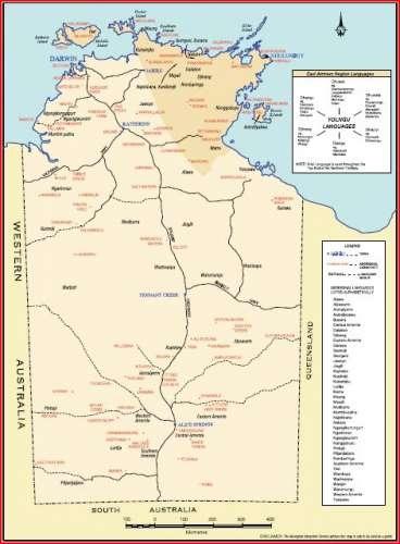 Northern Australia Map.Northern Territory Languages Nt Govt